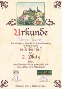 2012-KellerBier-Urkunde-Platz2-mittel