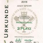 Platz 2 für das 4-Bräu Weizen auf den HHBT 2015