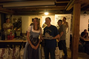 Preisverleihung mit der bayrischen Bierkönigin