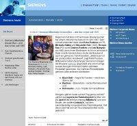 """Quelle: Auszug aus """"Siemens heute"""" vom 24.04.2003, Text: Rainer Vollath"""